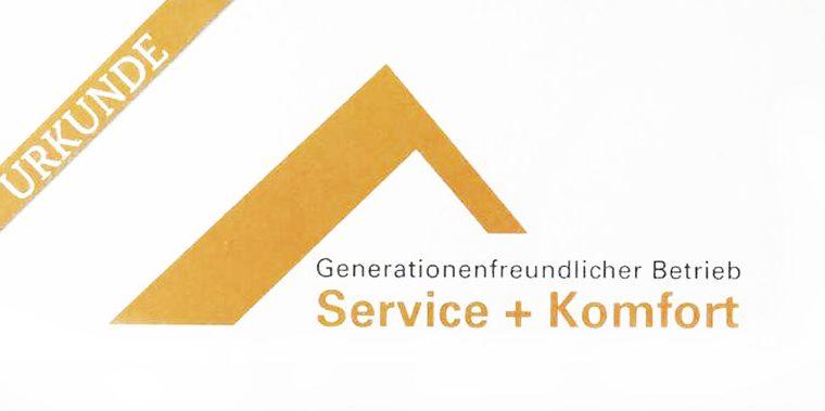 """Auszeichnung der Handwerkskammer: """"Generationenfreundlicher Betrieb"""""""