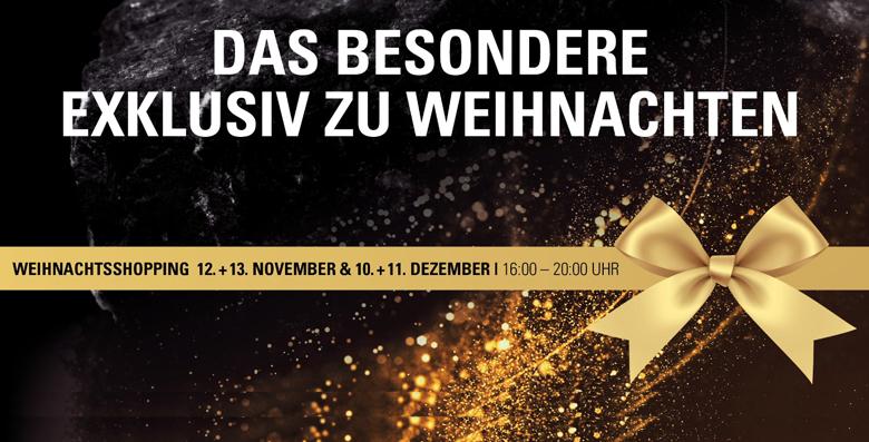 Einladung zum exklusiven Christmas-Shopping am 12./13. Nov & 10./11. Dez