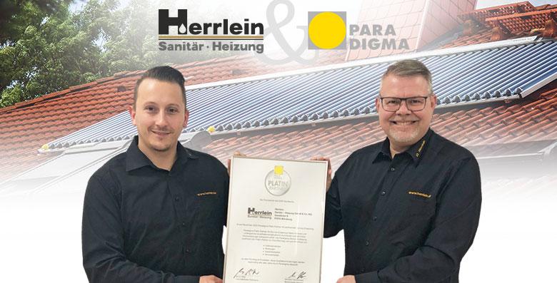 Auszeichnung zum Paradigma Platin-Partner