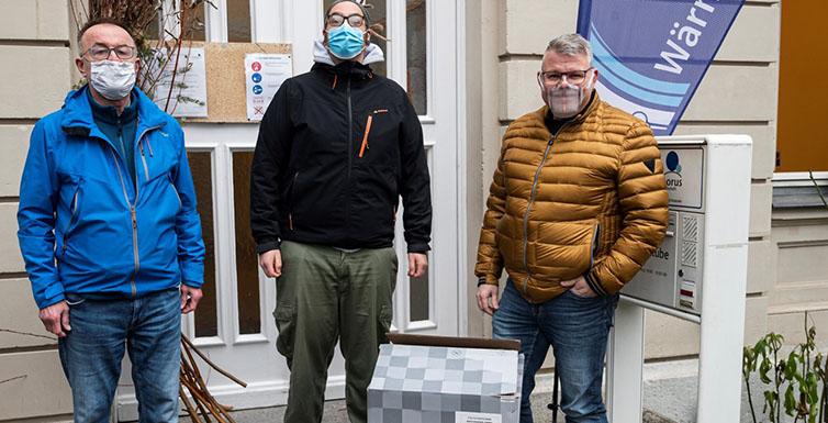 Wir spendeten einen Luftreiniger an die Würzburger Wärmestube